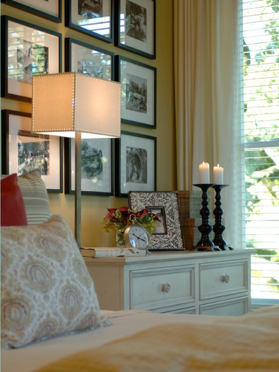 Ways Display Bedroom Frames Hgtv
