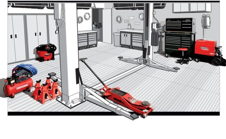Well Equipped Garage Everything Need Create
