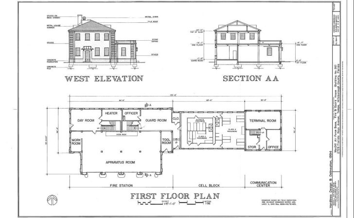 West Elevation Section First Floor Plan Macdill