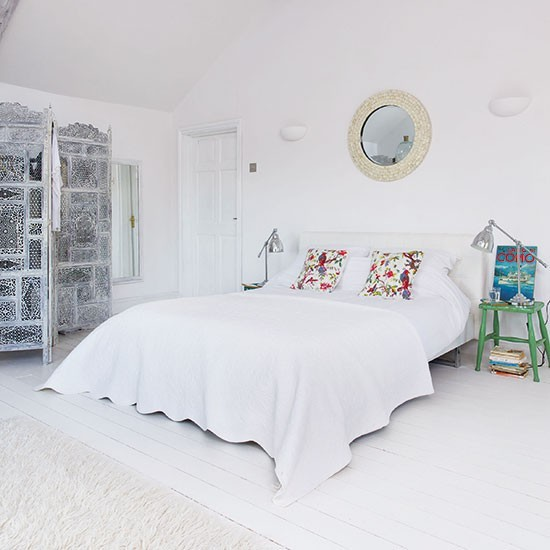 White Mediterranean Inspired Bedroom Housetohome