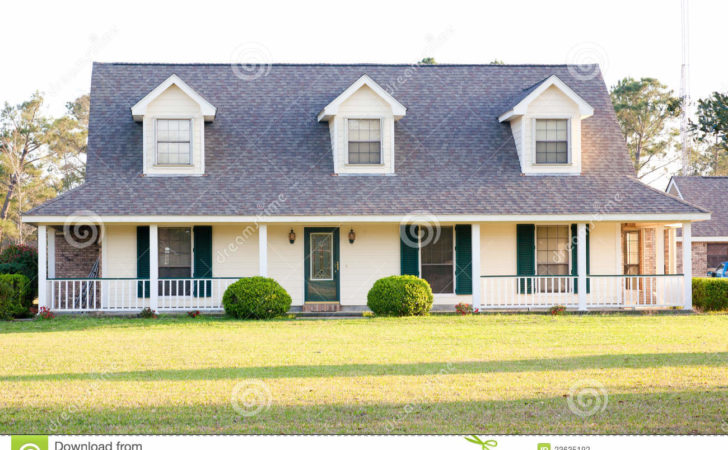 White Ranch Style American Home