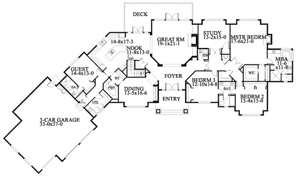 Wide House Plans Smalltowndjs