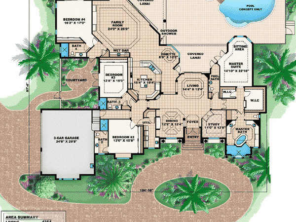 Wide Lots House Plans Home Design Style