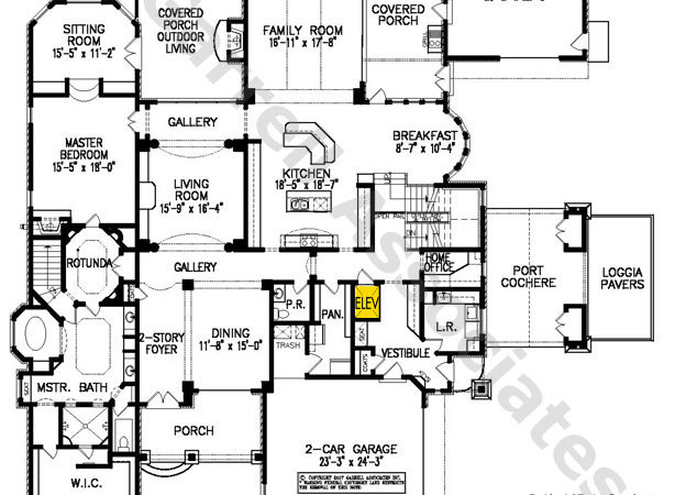 Winestone Manor Plan Elevator House Plans