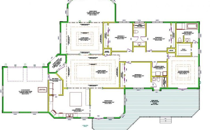 Wiring Large One Story Luxury House Plans Motor