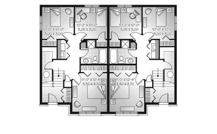 Witherbee Duplex Home Plan House Plans More