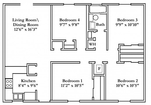 Wonderful Small Bedroom House Plans Typical Floor