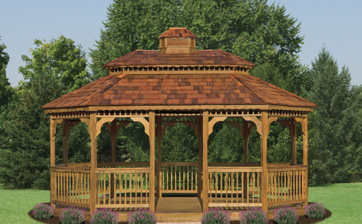 Wood Oval Gazebos North Country Shedsnorth Sheds
