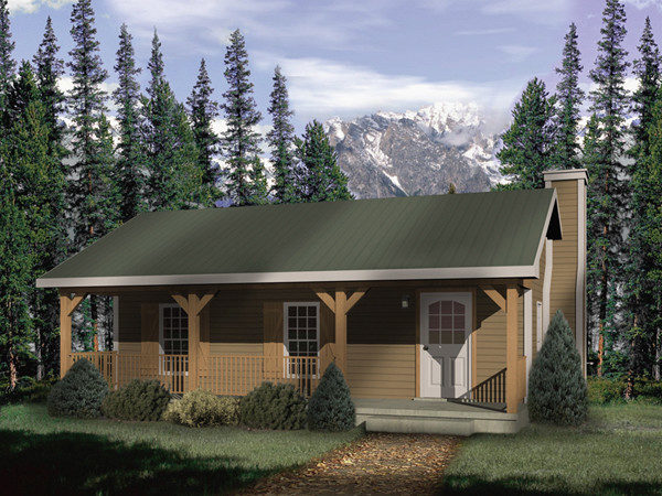 Woodbriar Rustic Country Cabin Plan House