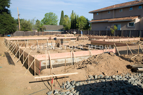 Wooden Foundation Forms Large Single House