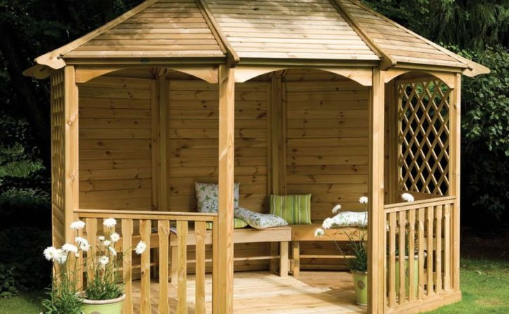Wooden Gazebo Significance Getting Detailed Shed