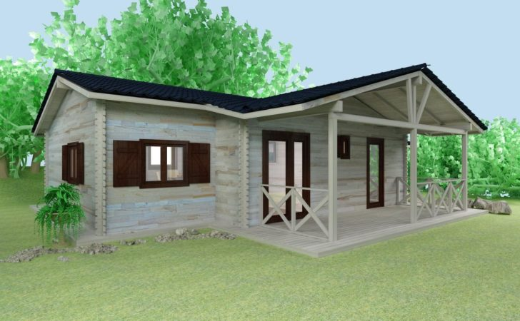 Wooden House Elevation Cabin Plans Design