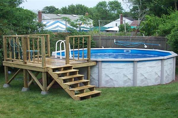 Woodwork Build Above Ground Pool Deck Pdf Plans