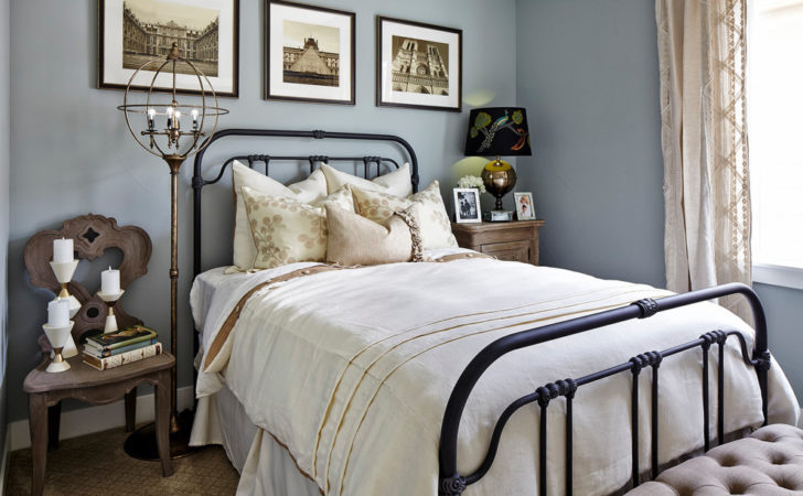 Wrought Iron Bed Frames Bedroom Shabby Chic